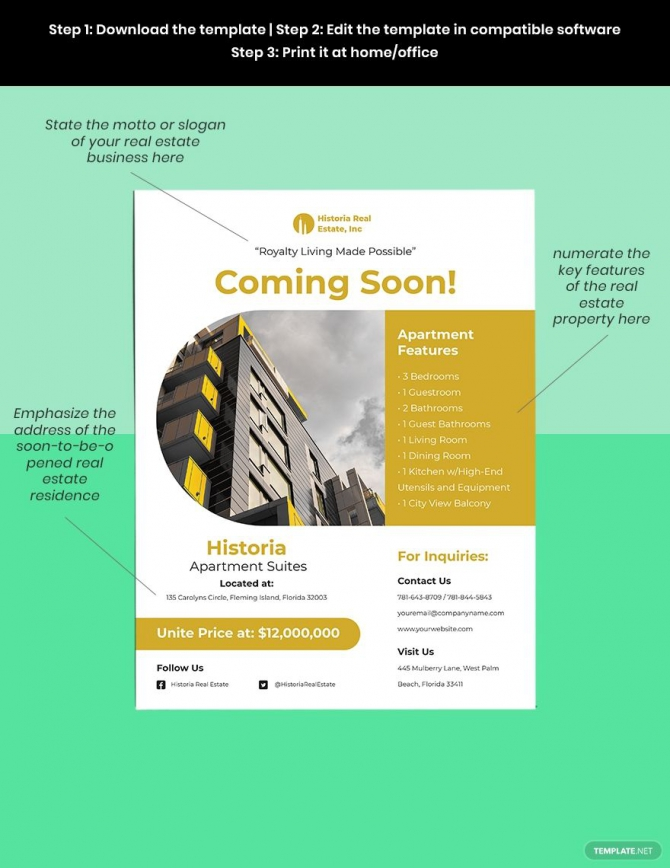 Coming Soon Real Estate Flyer In