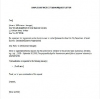 Contract Request Letter