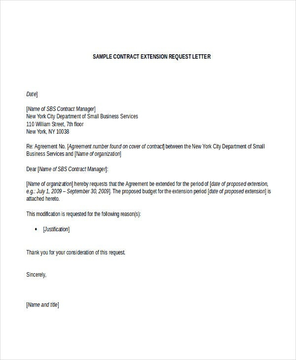 Contract Letter Template