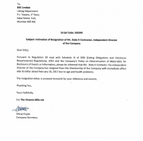Independent Contractor Resignation Letter