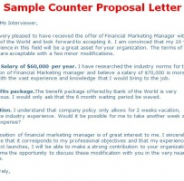 Counter Offer Letter For Business