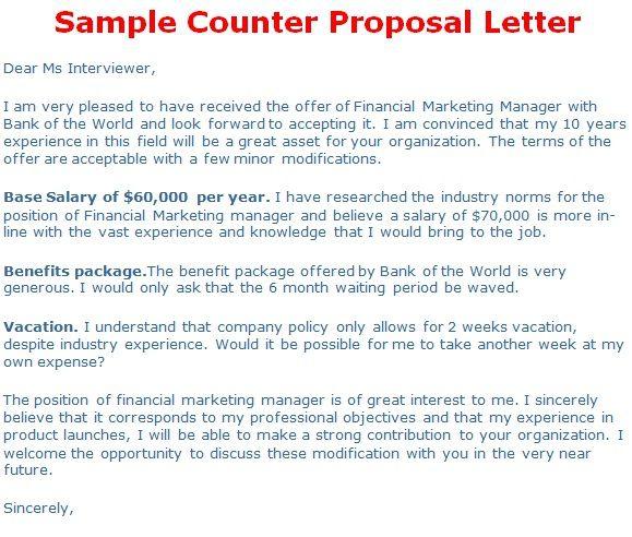 Counter Offer Letter