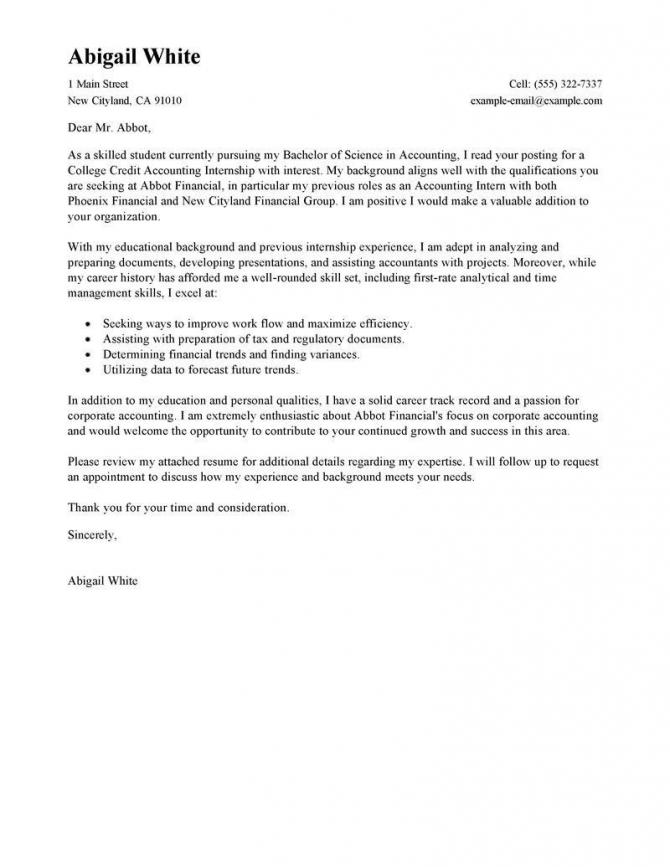 Cover Letter Sample For Internship Graduated Bachelor Degree