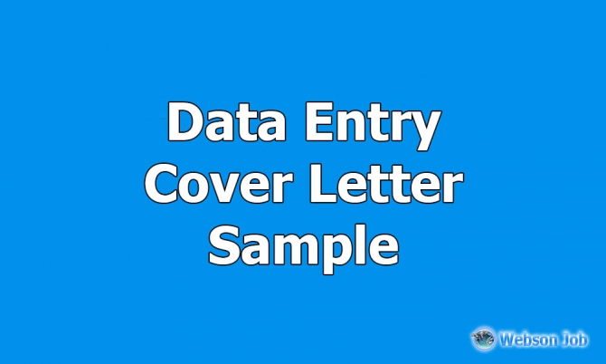 Data Entry Cover Letter Sample For Upwork