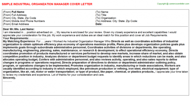 Data Warehouse Project Manager Cover Letters