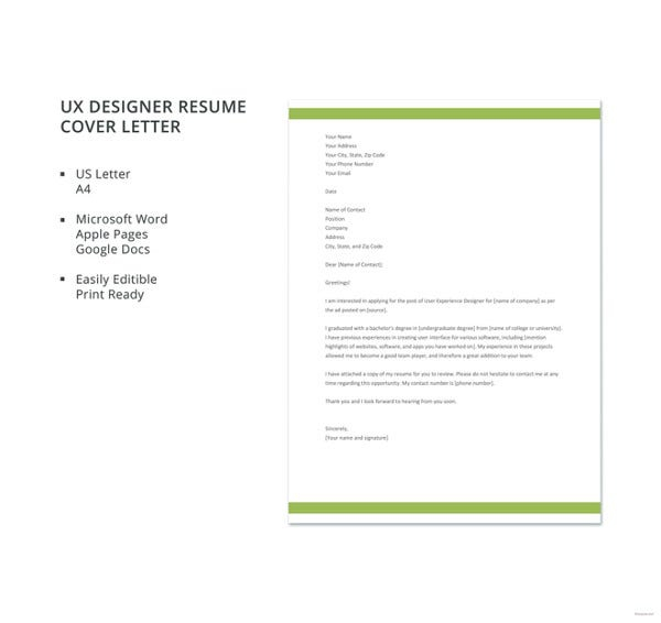 Designer Cover Letters