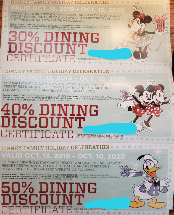 Dining Discounts For Disney Cast Members