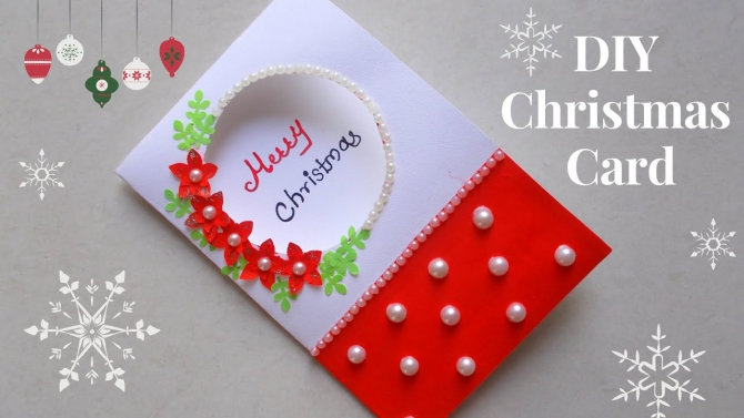 Diy Christmas Greeting Cardhow To Make Christmas Card Simple And