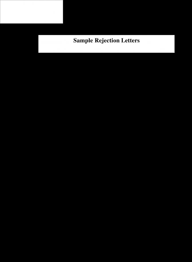 Download Job Applicant Rejection Letter Sample Valid Free Job