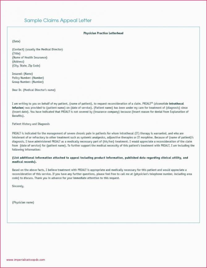 Download Sample Appeal Letter For Insurance Claim Denial