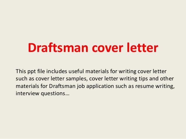 Draftsman Cover Letter