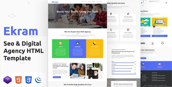 Ekram Is A Fully Responsive Internet Marketing And Seo Template