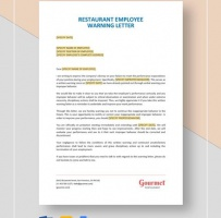 Restaurant Employee Warning Letter
