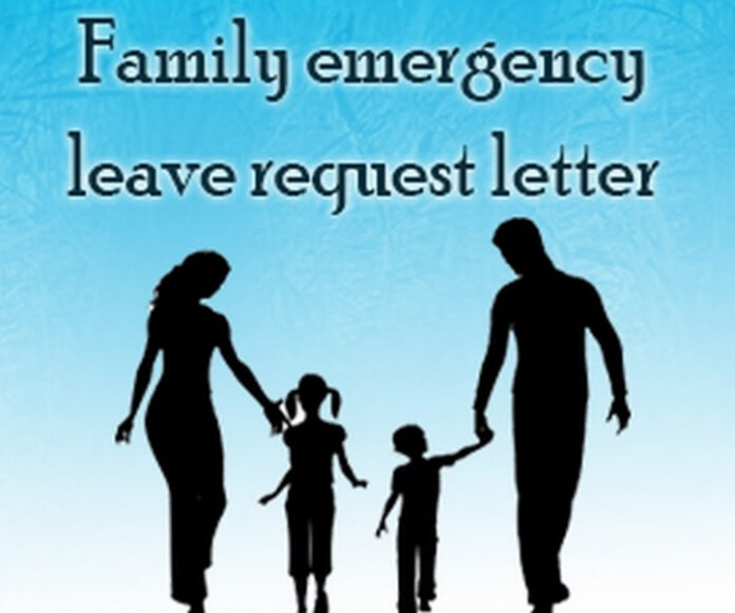Family Emergency Leave Request Letter Sample