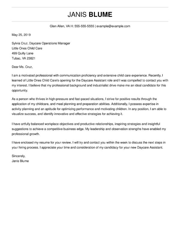 For Free Cover Letter Format