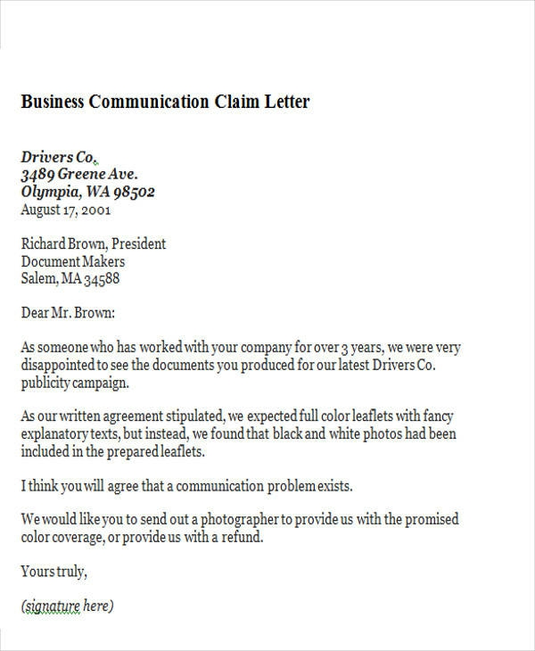Free  Business Letter Templates In Ms Word