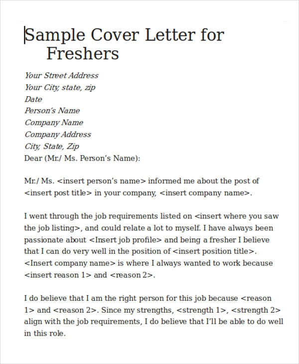 Free  Cover Letter For Software Engineer In Ms Word