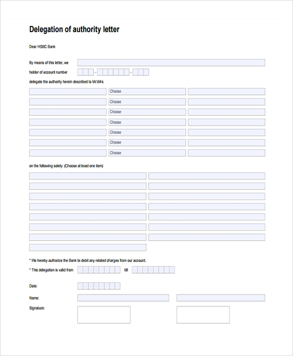 Free  Delegation Letter Templates In Pdf
