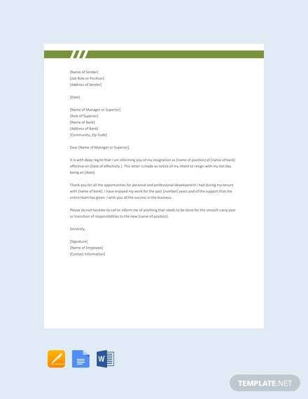 Free  Employee Resignation Letter Templates In Ms Word