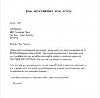 Final Warning Letter Before Legal Action
