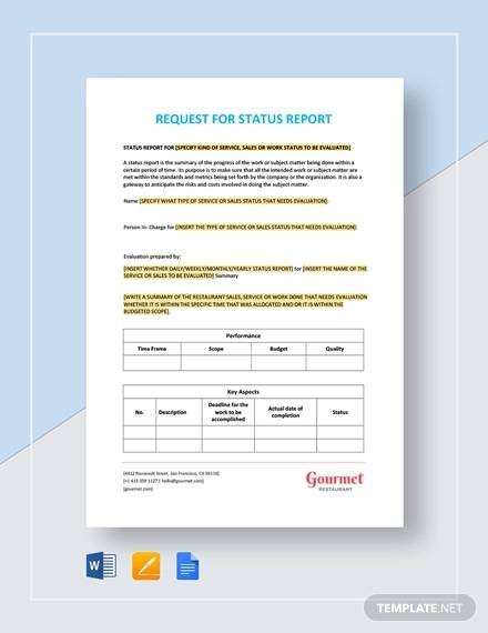 Free  Sample Status Reports In Pdf