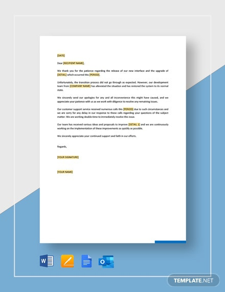 Free Apology Letter Templates
