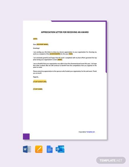 Free Appreciation Letter Templates