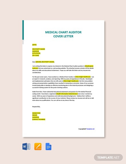 Free Auditor Cover Letter
