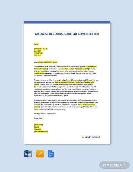 Free Auditor Cover Letter Templates