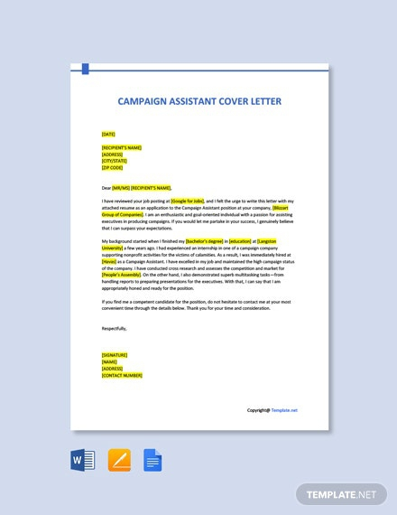 Free Campaign Letter Templates