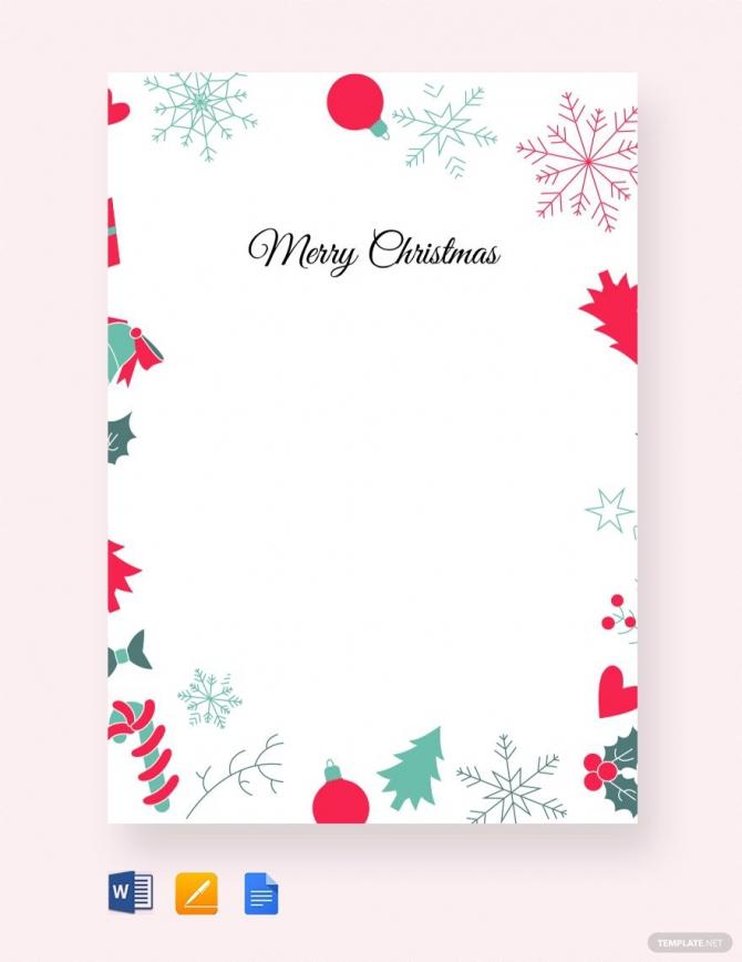 Free Christmas Border Letter