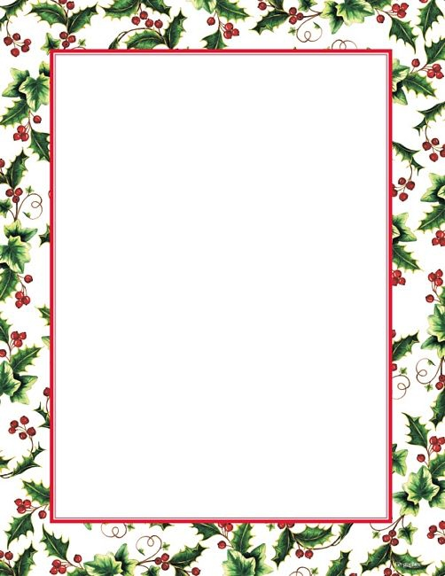 Free Christmas Letter Borders