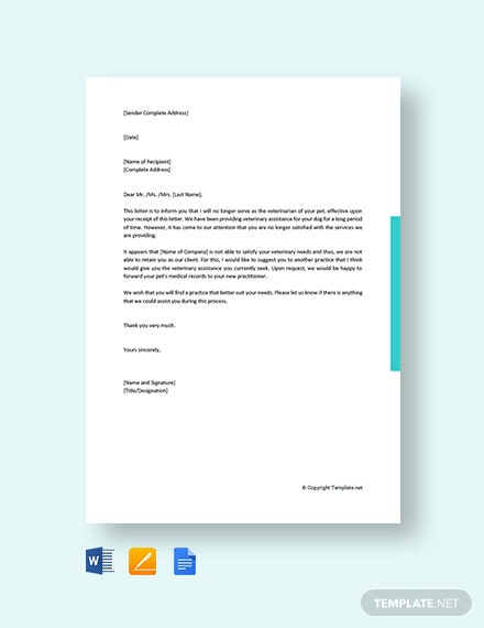 Free Client Termination Letter Template