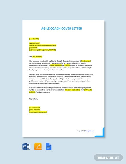 Free Coach Cover Letter Templates