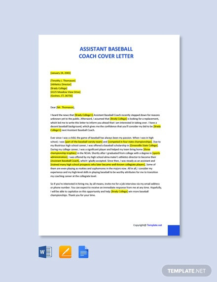 Free Coach Letter Templates