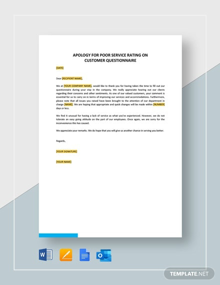 Free Complaint Letter For Poor Customer Service Template