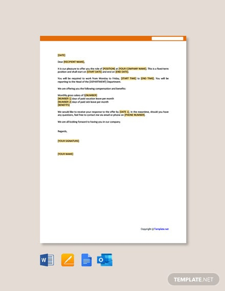 Free Contract Employee Offer Letter Template