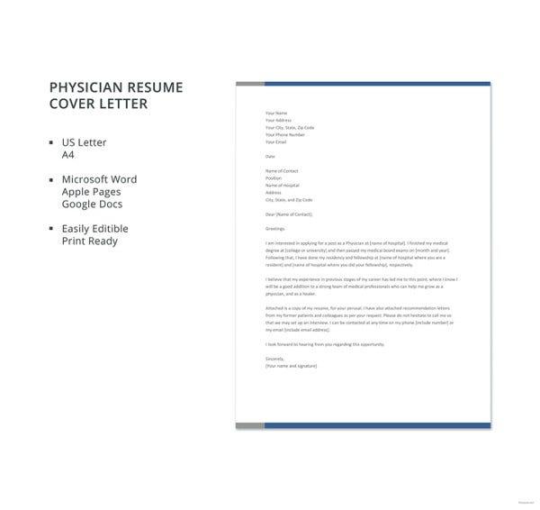 Free Cover Letter Samples