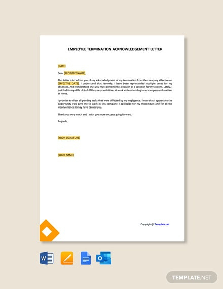 Free Employee Termination Letter Template