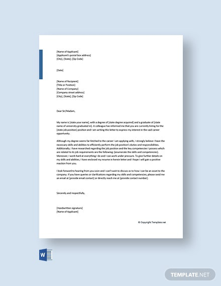 Free Entry Level Career Change Cover Letter Template