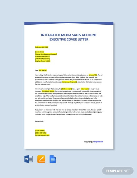 Free Executive Cover Letter Templates