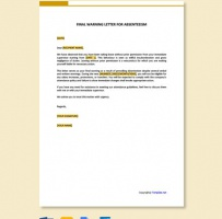 Final Warning Letter For Absenteeism