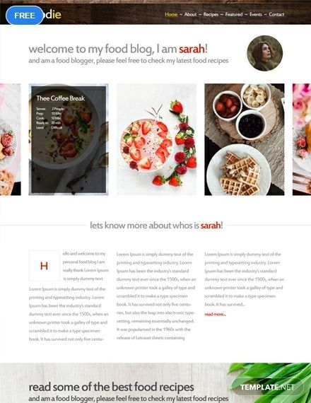 Free Foodie Htmlcss Website Template