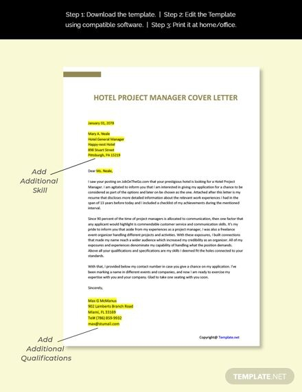 Free Hotel Project Manager Job Description Template Ad    Paid