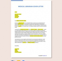 Medical Librarian Cover Letter
