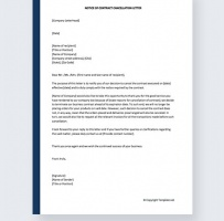 Dealership Cancellation Letter