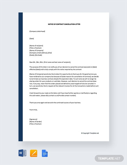 Free Membership Cancellation Letter Template