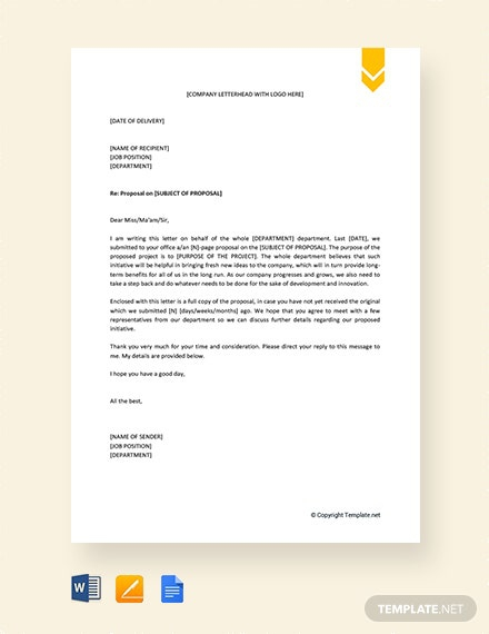 Free Request Letter For Approval Of Proposal Template