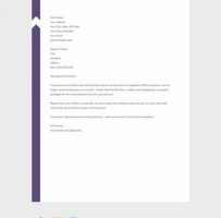 Resignation Letter To Client