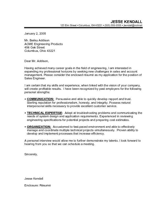 Free Samples Cover Letter For Resume